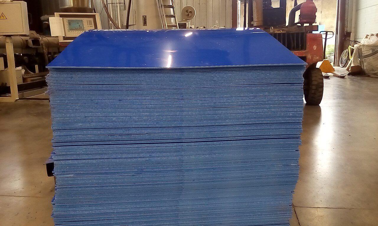 Лист ПП 4000-1500-5 синий